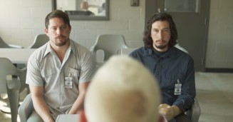 "Daniel Craig's bleached head faces Channing Tatum and Adam Driver in ""Logan Lucky."""
